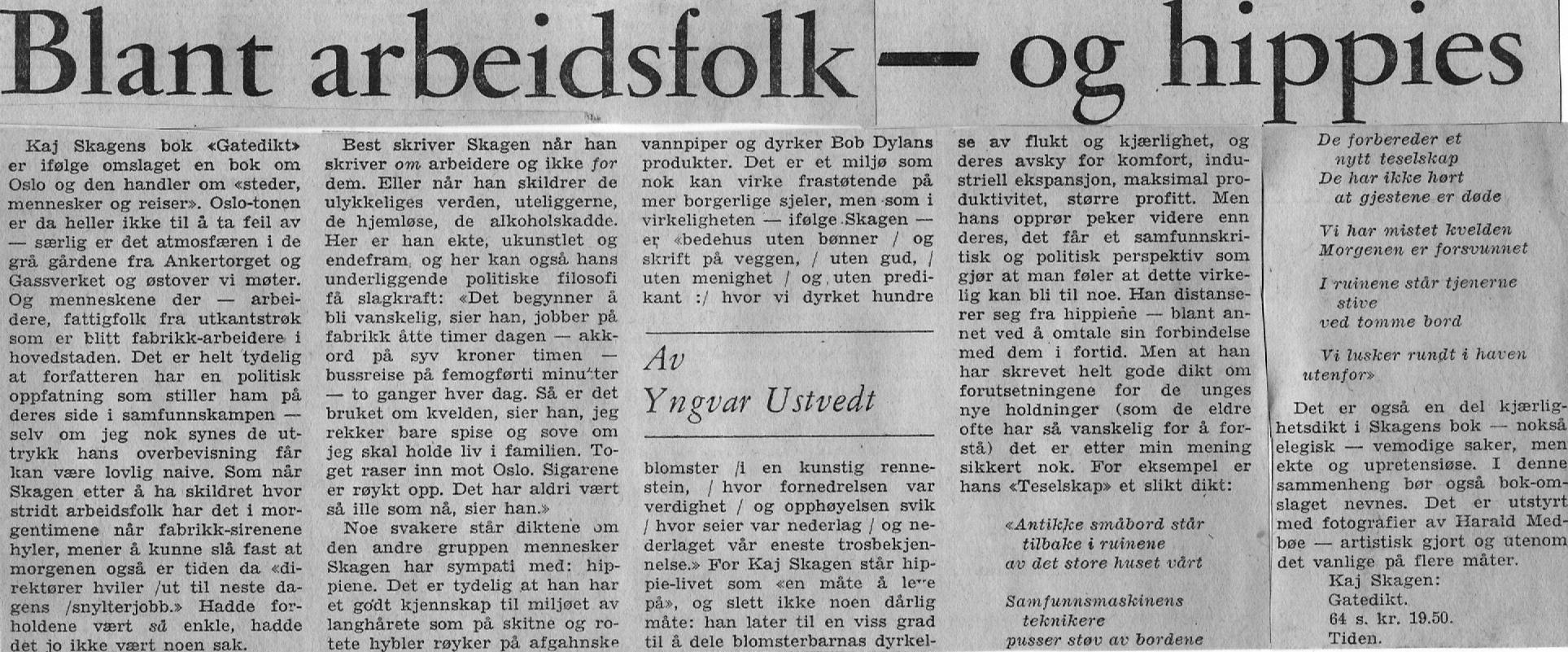 Utklipp fra Dagbladet 1971