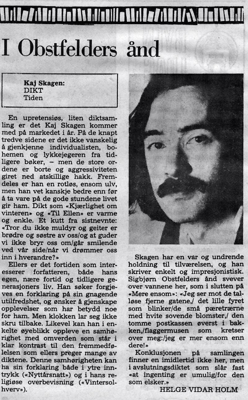 Utklipp fra Bergens Tidende 1977