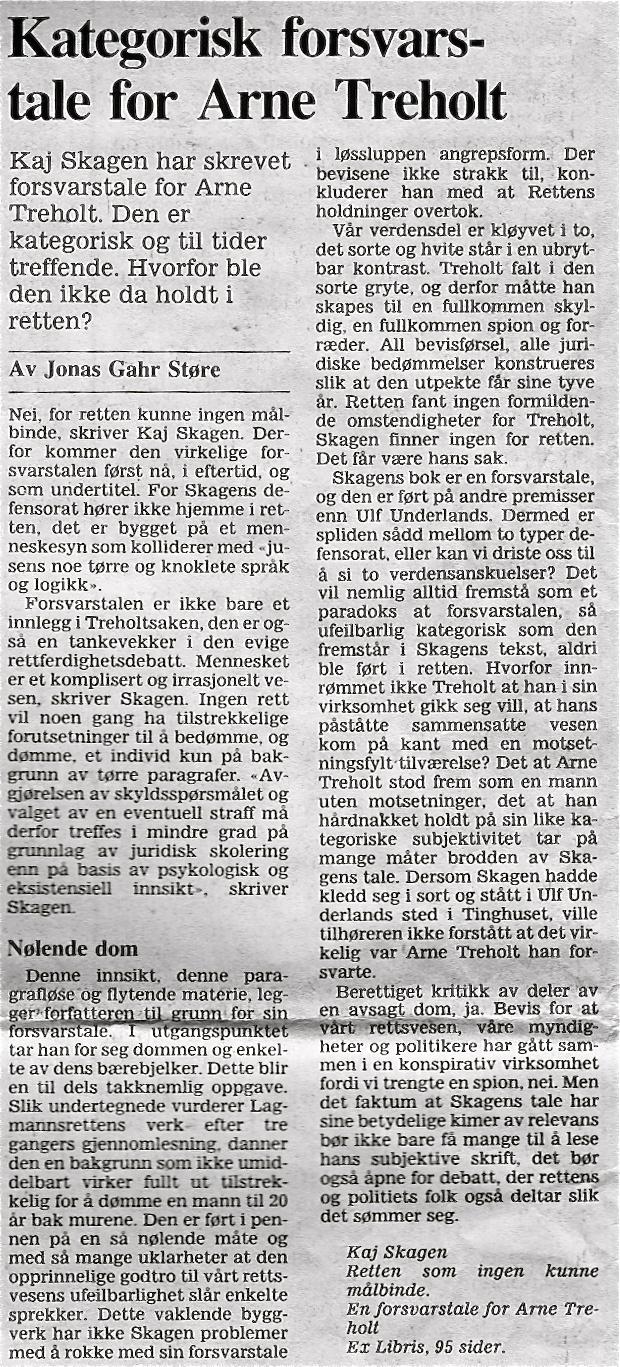 Utklipp fra Morgenbladet