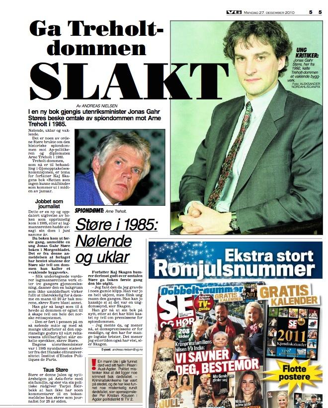 Utklipp fra VG desember 2010