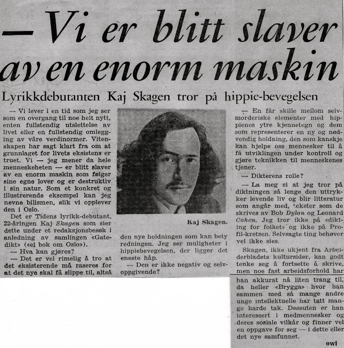 Forhåndsomtale i Dagbladet