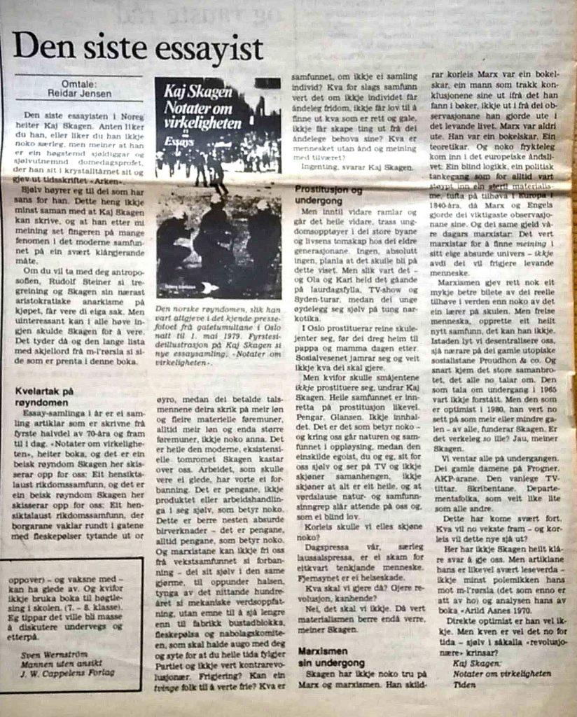 Utklipp fra Dag og Tid 1981