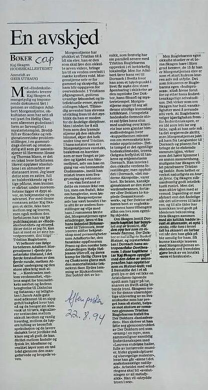 Aftenposten 22. august 1994