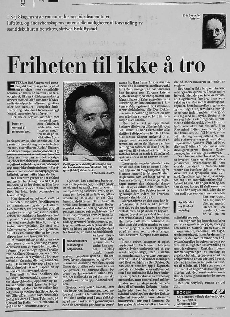 Klassekampen, 17. september 1994.