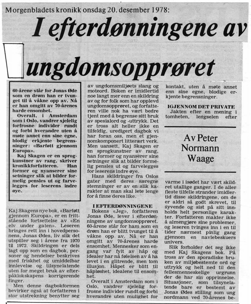 Morgenbladet  20. desember 1978