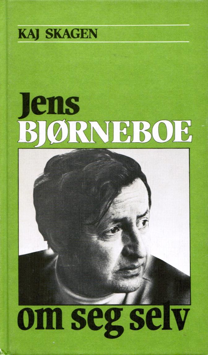 Omslag for Jens Bjørneboe om seg selv av Kaj Skagen