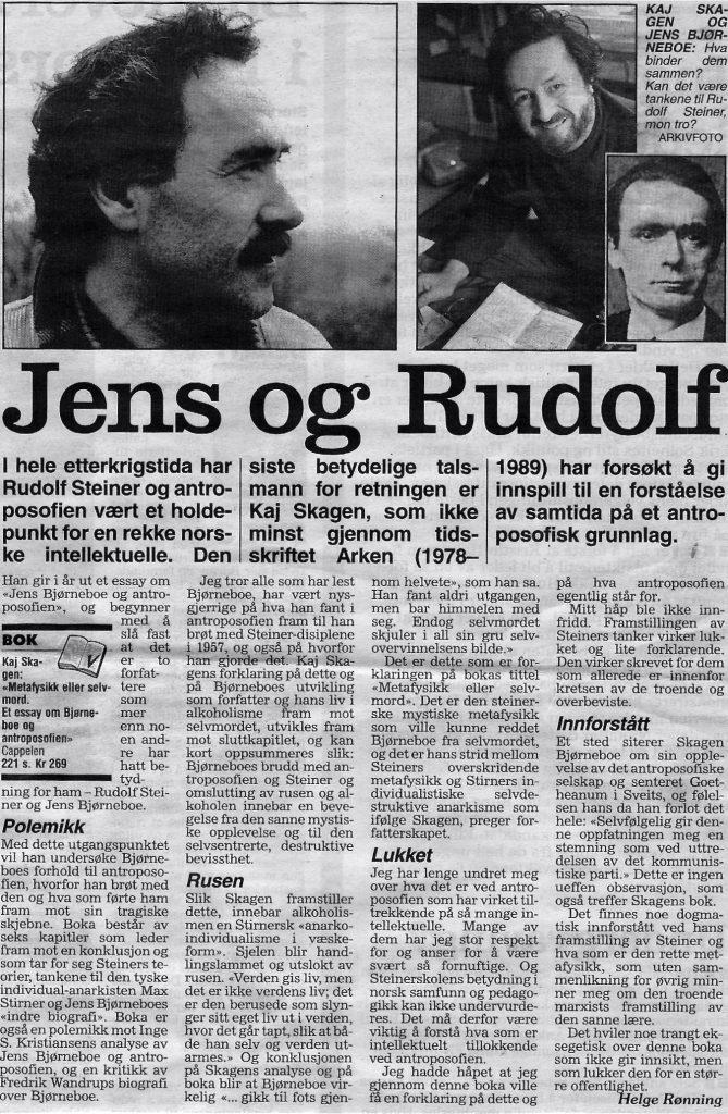 Jens og Rudolf i Dagbladet 1996