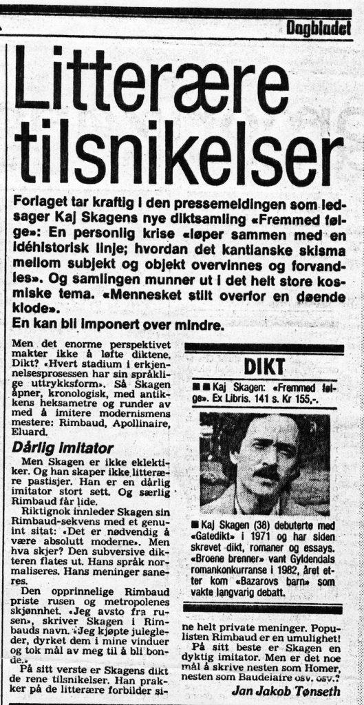 Avisutklipp Dagbladet