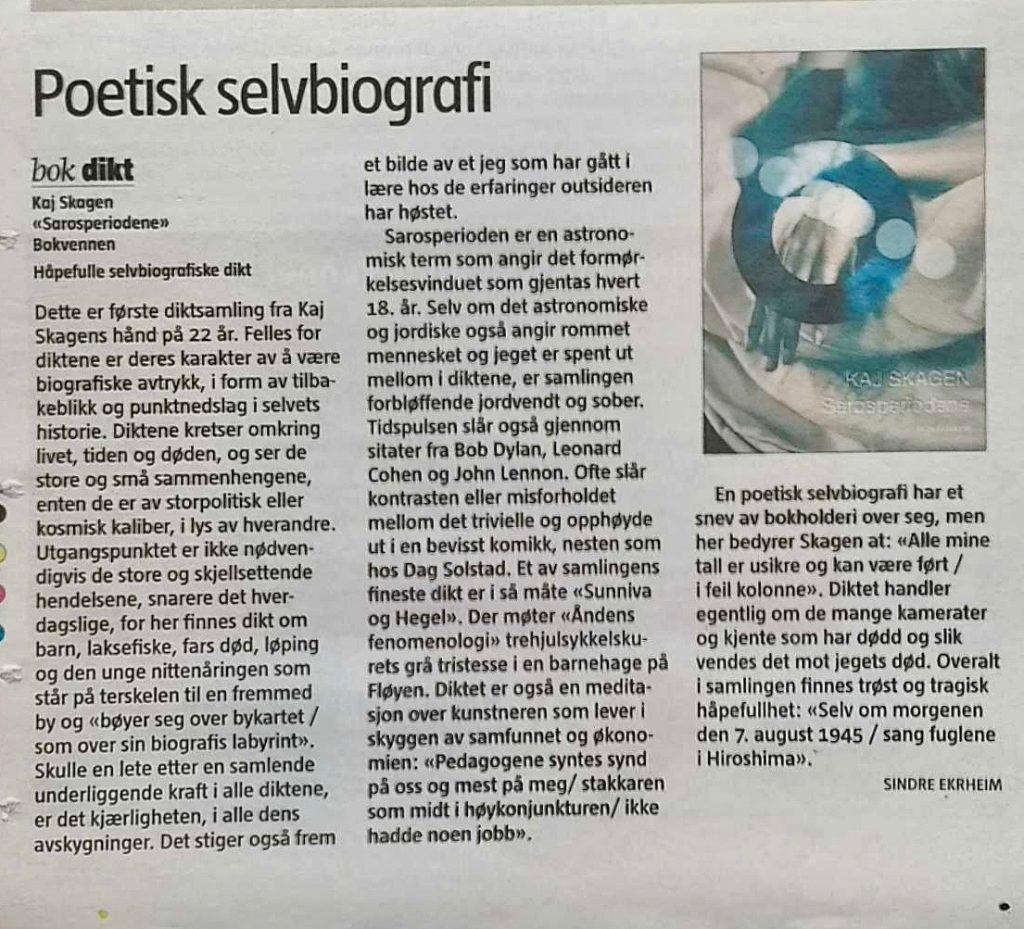 Anmeldelse av Sindre Ekrheim i Bergens Tidende, 30. november 2009