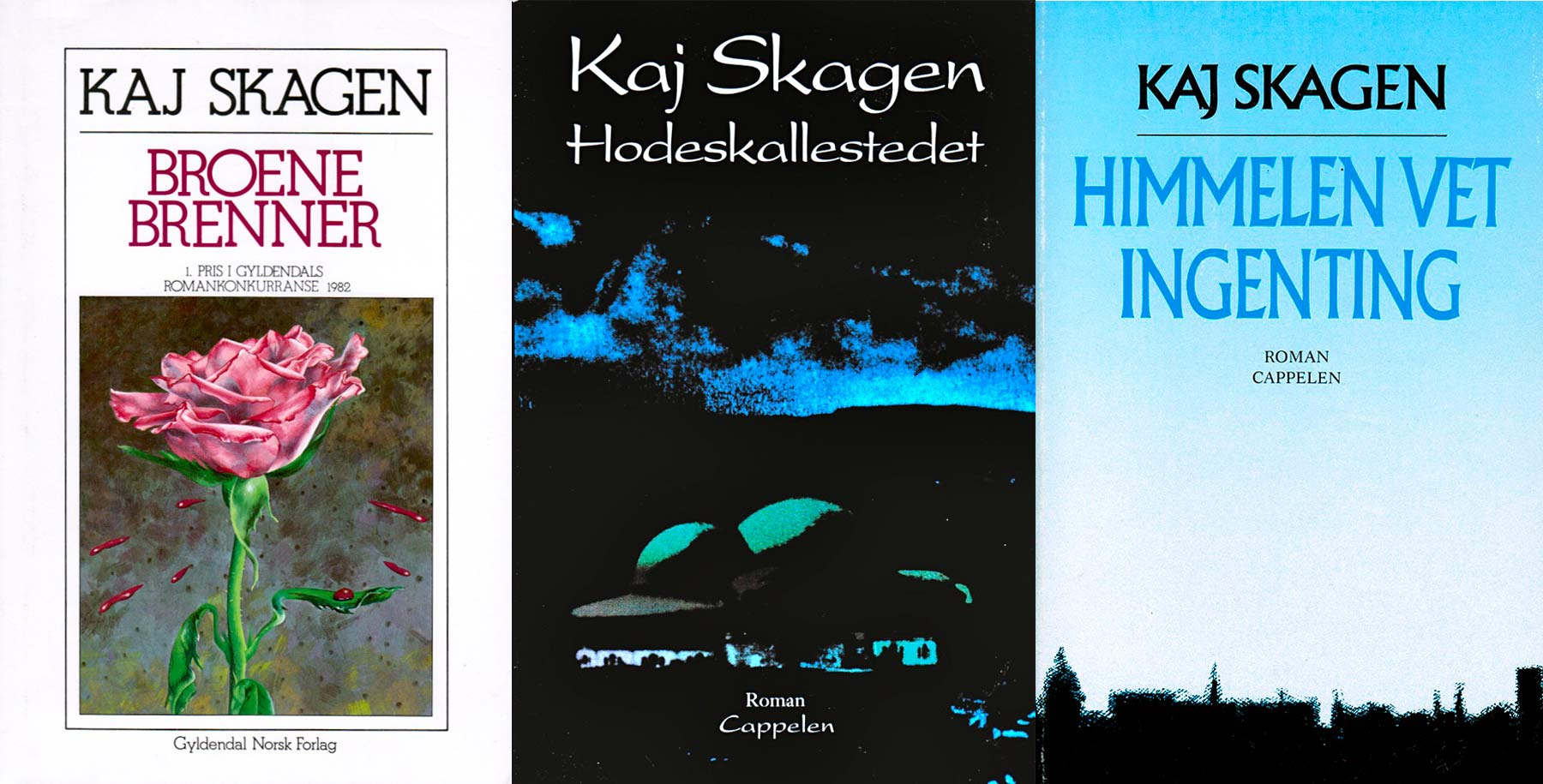 Omslagsfoto romaner av Kaj Skagen
