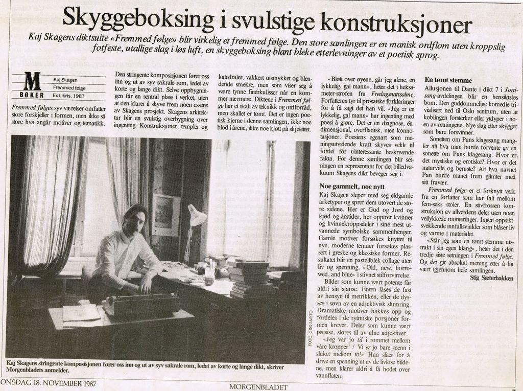 Avisutklipp fra Morgenbladet