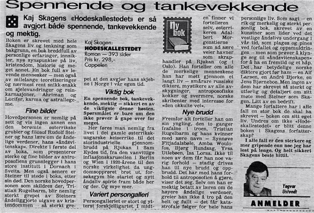 Utklipp fra VG august 1994
