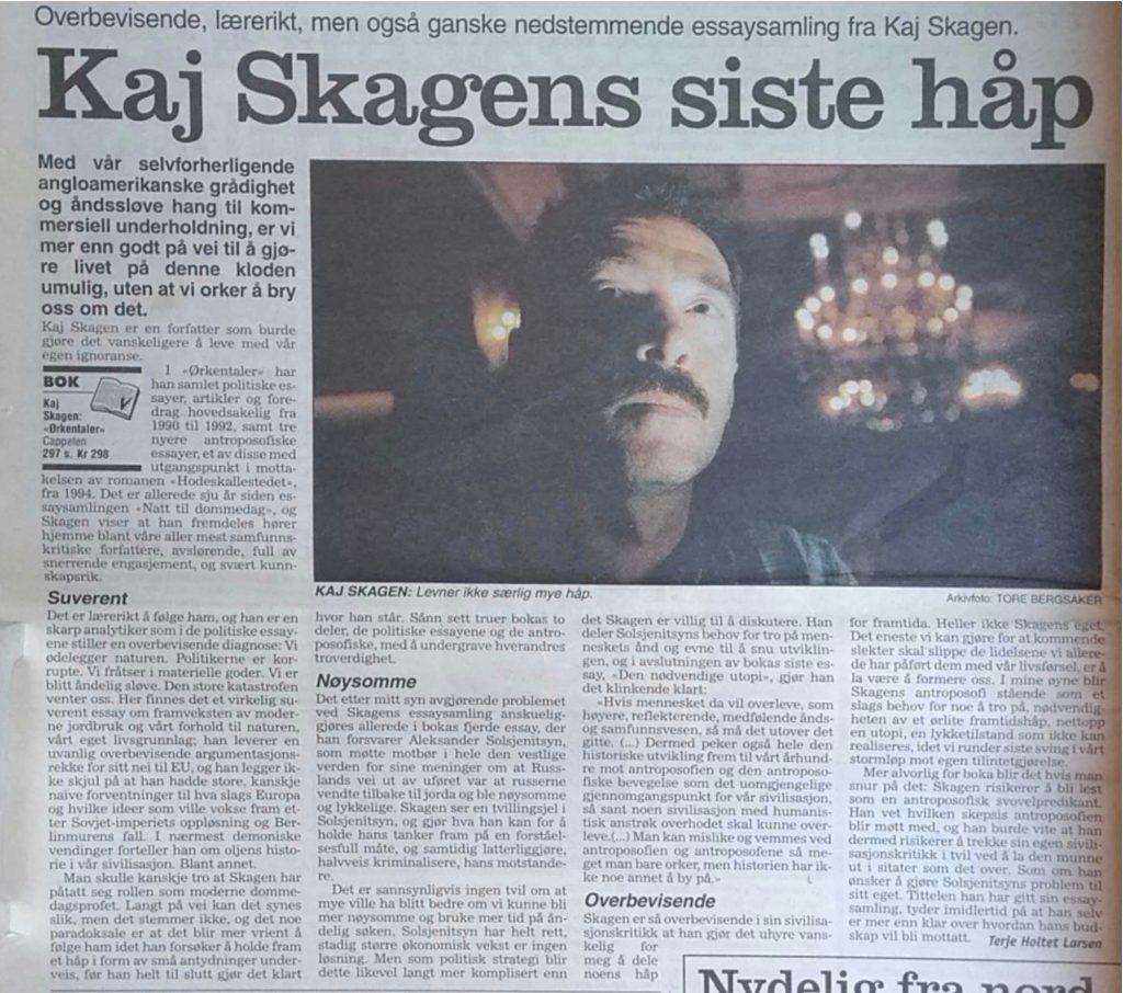 Utklipp fra Dagbladet 1998