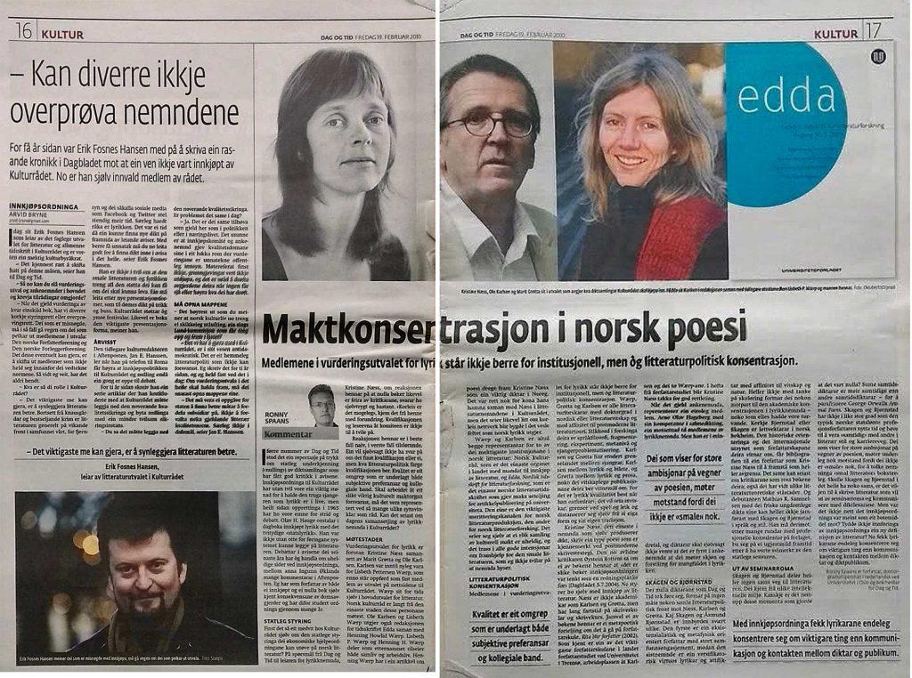 Faksimile Dag og Tid 2010