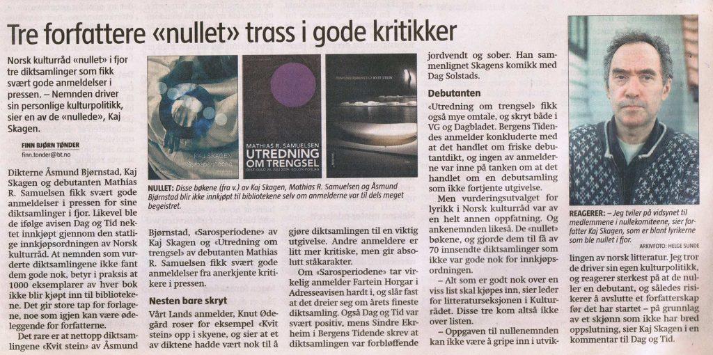 Faksimile Bergens Tidende 2010